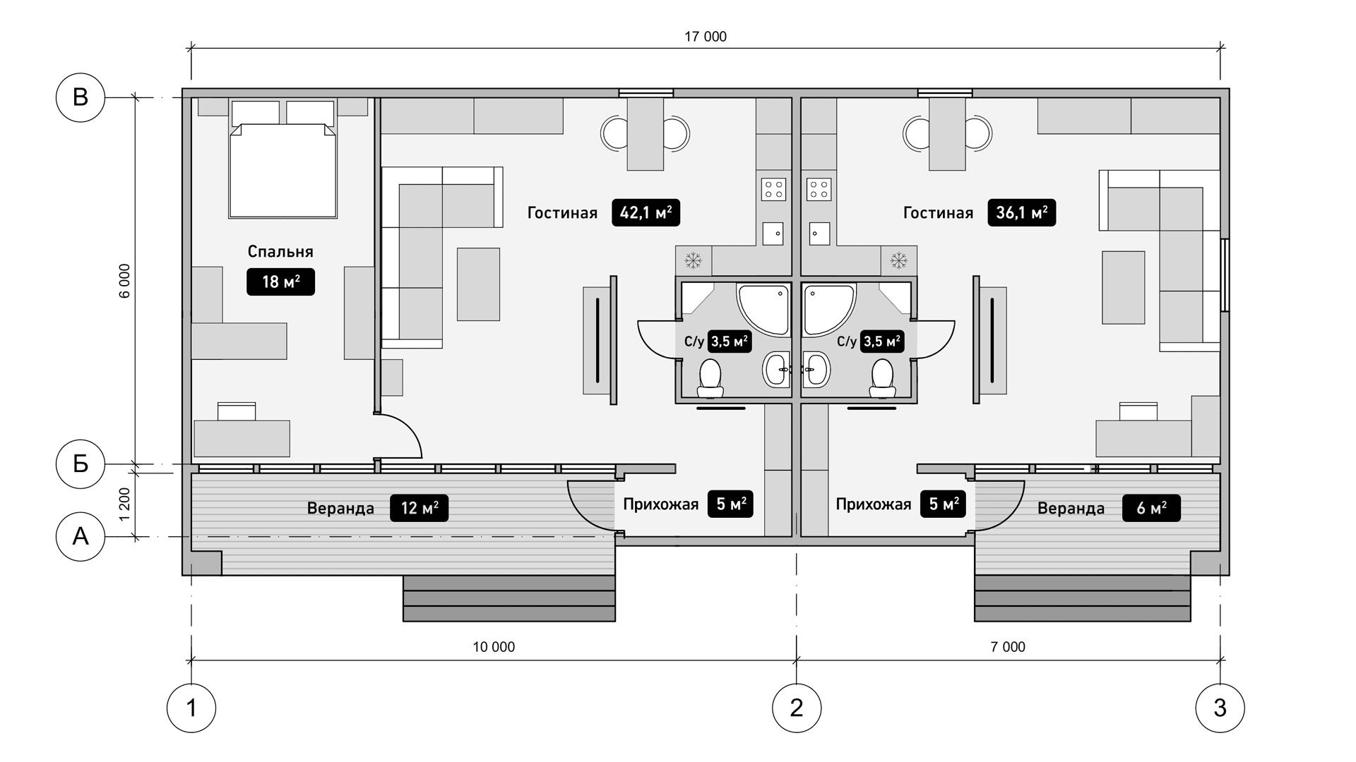 Семейный дом. План